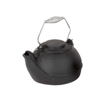 3 Quart Jet Black Wood Stove Kettle